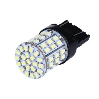 2pcs T20 W21W 7443 7440 LED 64-SMD 1206 Tail Stop Brake Light(White) - intl