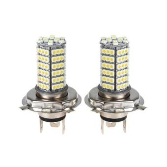 2X Car H4 120 LED 3528 SMD Xenon White Fog Headlight Head Bulb Light Lamp 12V