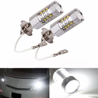 2X H3 80W CREE Super Bright LED White Fog Tail Turn DRL Head Car Light Lamp Bulb - intl