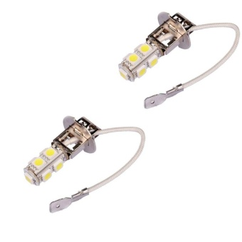 2x H3 9 LED SMD Car Auto Xenon White Fog Driving Head Light LampBulb - intl Price Philippines