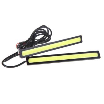 2x14cm 4W COB LED DRL Daytime Running Fog Lamp Light Bar White 12V.
