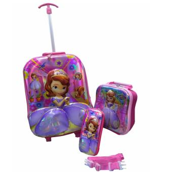 3 in 1 UHE SOFIA THE FIRST backpack trolleys for school bag (PINK) Price Philippines