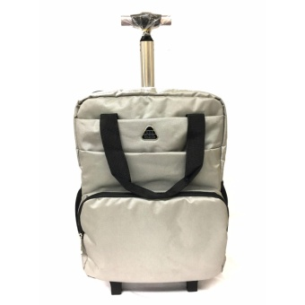 3-Way Backpack Handcarry Trolley Travel Bag #1803 (Grey) Price Philippines
