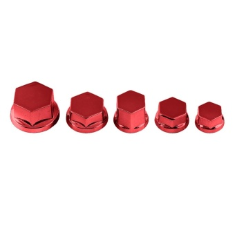 30Pcs Motorcycle Motorbike Screw Nut Bolt Cap Cover Decoration ForYamaha Kawasaki Honda(Red) - intl