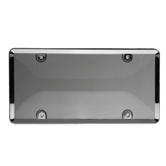 320872934595 CLEAR PLASTIC LICENSE PLATE SHIELD +BLACK FRAME bugcover tag protector plastic - intl