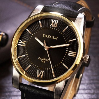 348 YAZOLE Leather Business Men Watch - intl - 3