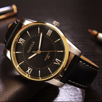 348 YAZOLE Leather Business Men Watch - intl