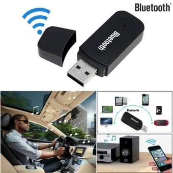 3.5mm Car Wireless Bluetooth Aux Audio Stereo Music Receiver Adapter+Mic For PC - intl