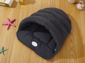 38 * 28cm Pet Supplies Kennel House Beds Removable Wash Pet Nest Cat Litter Slippers Cushion Grey - intl - 2