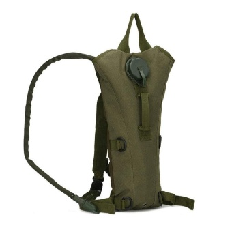 3L Water Bag Military Tactical Hydration Backpack Outdoor CampingCamelback Nylon Waterproof Camel Water Bag Cycling - dark green -intl