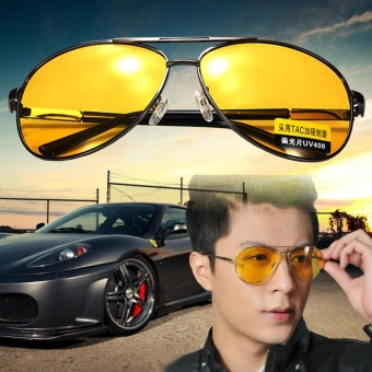 3Pcs Polarized Yellow Lens Sunglasses Night Driving Vision Glasses Eyewear UV400