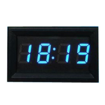 4 Digit 0.4inch Blue Digital Electronic Clock for Car MotorcycleMotor - Intl - Intl - intl