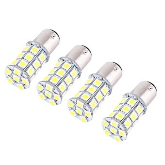 4 Pcs 12V 1157 BAY15D 5050 27 SMD High Power LED Car Brake Light Bulb Stop Lamp (White) - intl