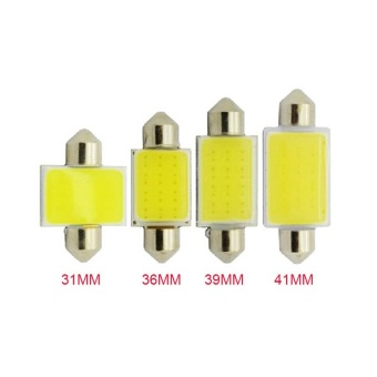 4 Piece/lot 31mm Car COB 12V Interior Car LED Bulbs Lamp Interior Dome Reading License Plate Lights 31mm 36mm 39mm 41mm COB Light for Car - intl