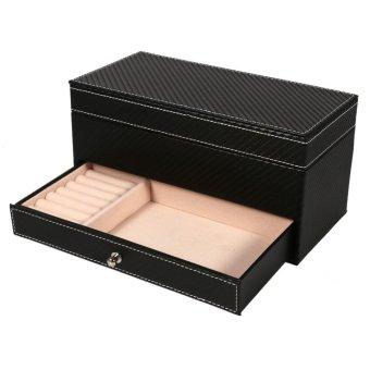 4 Slot Leather Watch Storage Box Case Jewelry Organizer Container(Black) - intl - 3