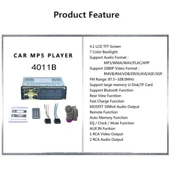 4011B 4.1inch 1 DIN MP5 Car Media Player - intl - 2