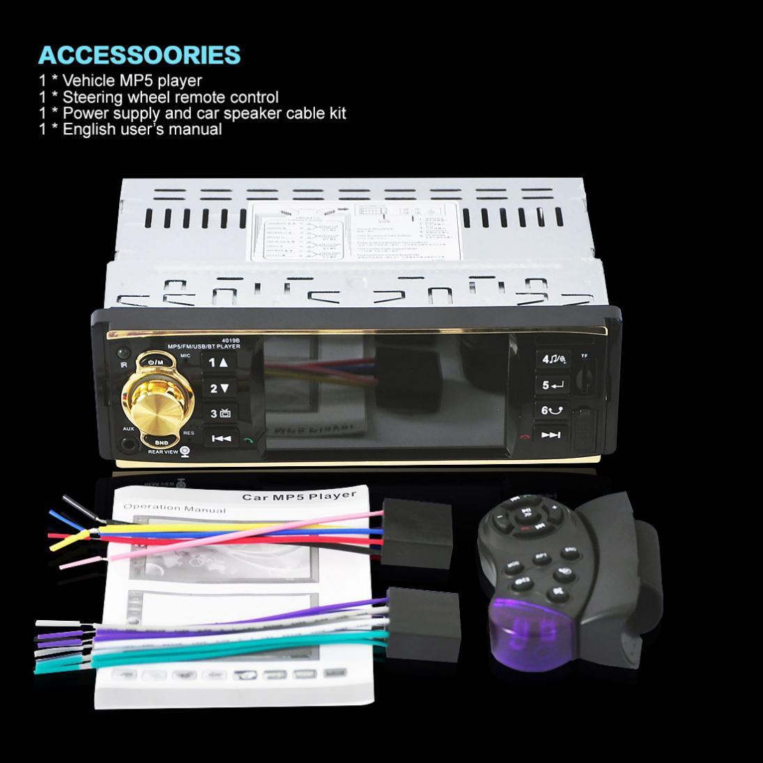 ... 4019B 12V 4.1 Inch HD 1080P Bluetooth Stereo MP3 / MP4 Radio FM MP5 Video Player ...