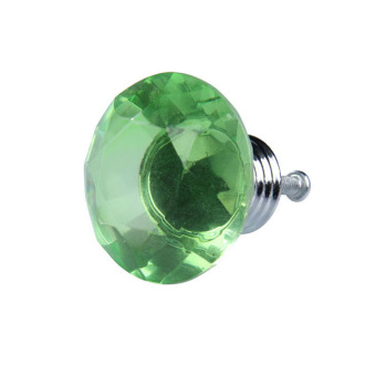 40mm Diamond Shape Crystal Glass Drawer Cupboard Pull Handle Knob Green - INTL - picture 2
