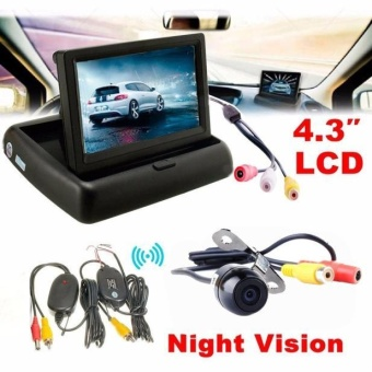 4.3 Car Rear View Monitor Wireless Car Backup Camera Parking SystemKit - intl