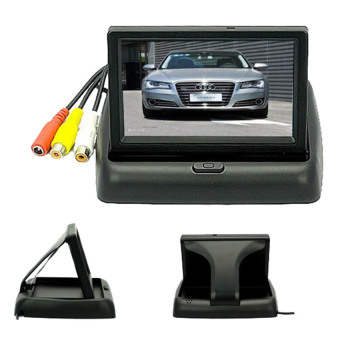 4.3 inch Foldable TFT Color LCD Car Reverse Rearview SecurityMonitor for Camera DVD VCR