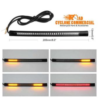 48 LED Motorcycle Motorbike Tail Brake Stop Turn Signal FlashingStrip Light - Flexible