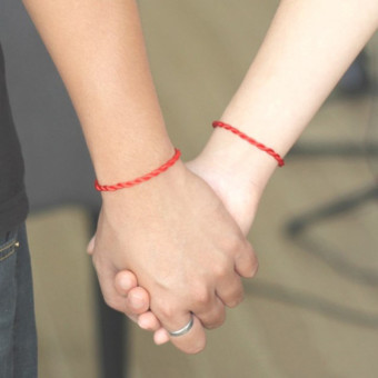 4ever 20pcs Handmade Red Rope Bangle Lucky Bracelets For Couple Friend Family Gift (Red) - intl
