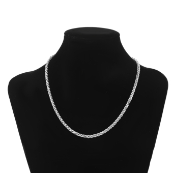 """4MM 22"""" MENS Silver Stainless Steel Wheat Braided Chain Necklace"""