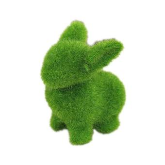 4Pcs Cute Artificial Turf Grass Animals Home Desktop Christmas Idea Gift Decor - intl - picture 2