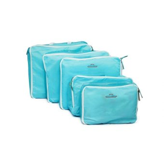 5-in-1 Waterproof Packing Cubes Mesh Pouch (Light Blue) - picture 2