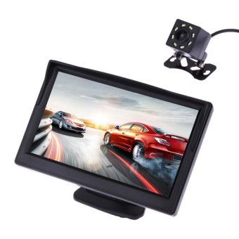 5 inch 480 x 272 Pixel TFT LCD Color Car Rear View Monitor With Camera - intl