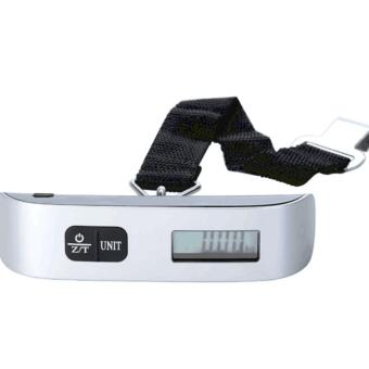 50 kg110lb Portable Electronic Luggage Scale (Sliver)