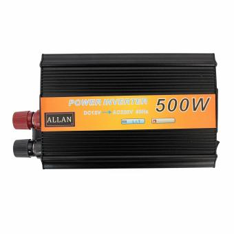 500W 12V DC to 220V AC Power Inverter (Black)