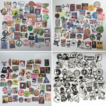 50pcs Mixed Waterproof Funny Skateboard Laptop Luggage StickersDecals - intl