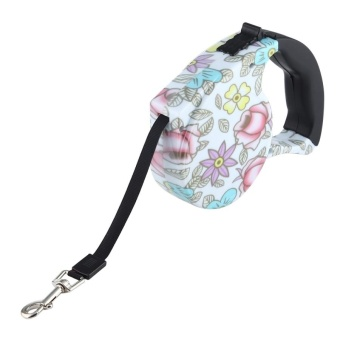 5m Peony Pattern Flexible Retractable Dog / Cat Leash For Daily Walking - intl - 2