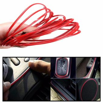 5M Red DIY Flexible Trim Car Interior & Exterior Moulding Strip Decorative Line