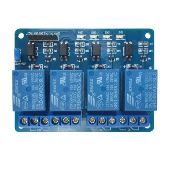 5V Four 4 Channel Relay Module With optocoupler for PIC AVR DSP ARMArduino - intl