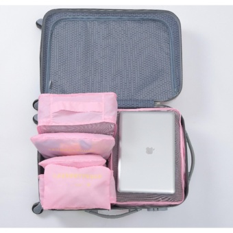 6 in 1 Travel Organizer (Pink)