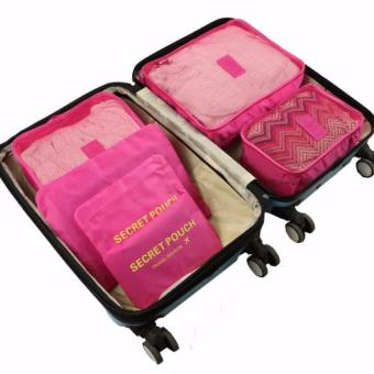 6 in 1 Travel Pouch (Fuchsia Pink)