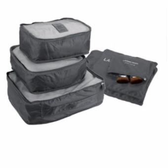 6 in 1 Travel Pouch Organizer Set (gray)