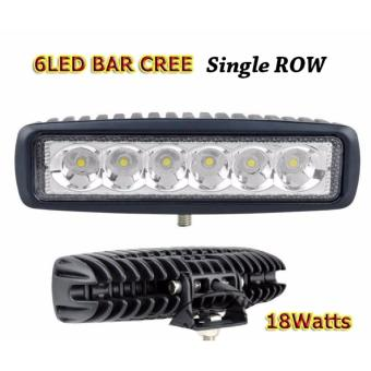 6 Led Cree Single Row LED WORK LIGHT BAR DRL