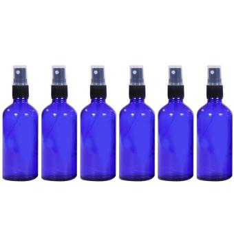 6 PCS 1.66oz/50ml Portable Travel Glass Refillable Empty Bottle Fine Mist Spray Bottle Container Travel Perfume Essential Oils Containers Sprayer Blue - intl