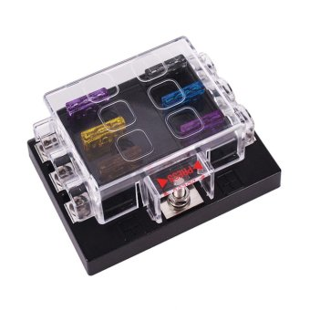 6 Way Blade Fuse Box Block Holder Circuit for Car Automotive AutoATC ATO - intl