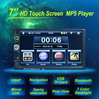 New 2 Din 73939 inch LCD Touch screen car radio player support 5