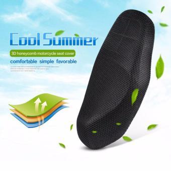 74 x 51 cm (Medium) Anti-Slip and Anti-Heat Breathable Motorcycle Seat Cover (Black) - 4