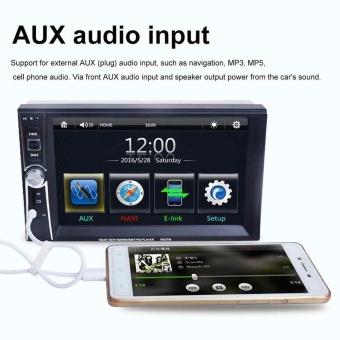 7inch slip down 2DIN Car Stereo FM Bluetooth MP5 Player with USB SD GPS Radio - intl