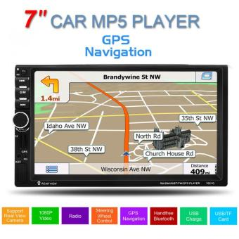 7inch Touch Screen GPS Hands-free calls Car Stereo MP5 Player FM USB SD TF Bluetooth Radio