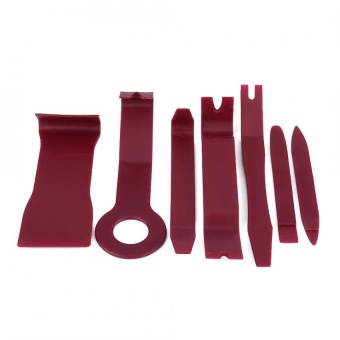 7Pcs Car Interior Exterior Dash Moulding Trim Audio Door Panel OpenRemoval Tools (Dark Red) - intl