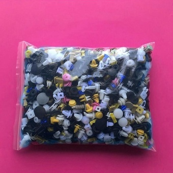 800pcs Car Auto Fastener Rivet Moulding Push Clips Pin Trim Colors Plastics - intl