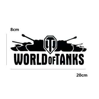 8cm*20cm World of Tanks Cool Fashon Personality Reflective CarSticker/Decal for Car and Motorcycle - intl - 5