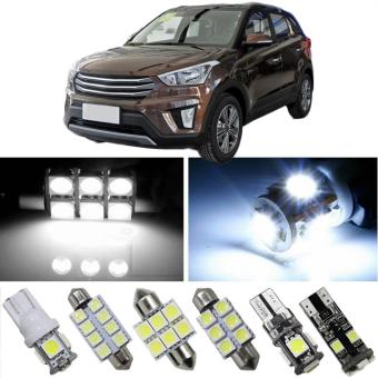 8X-SPEED For Hyundai Santa Fe Grand Santa Fe Tucson IX25 IX45 CarLed Interior Light Replacement Bulbs Dome Map Lamp Light BrightWhite - intl